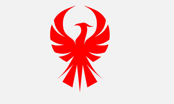 phoenix red logo bird creative modern