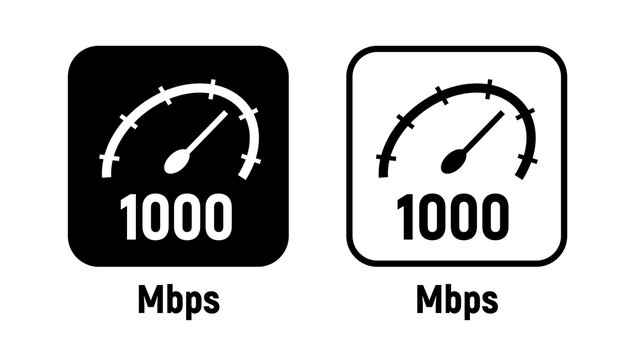 1000 mbps data internet symbol digital icon broadband