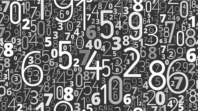 Numbers vector background