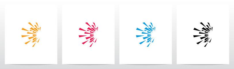 Debris Explosion On Letter Logo Design T