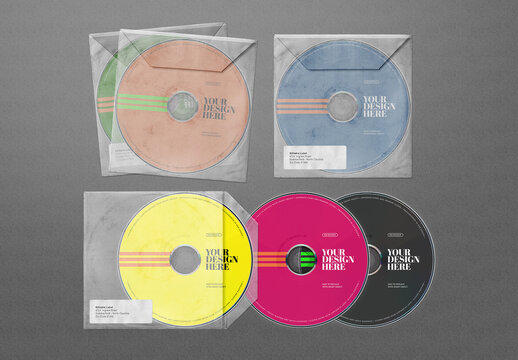 CD Mockups DVD Plastic Envelope