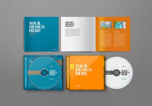 CD Mockup Jewel Case Square Booklet