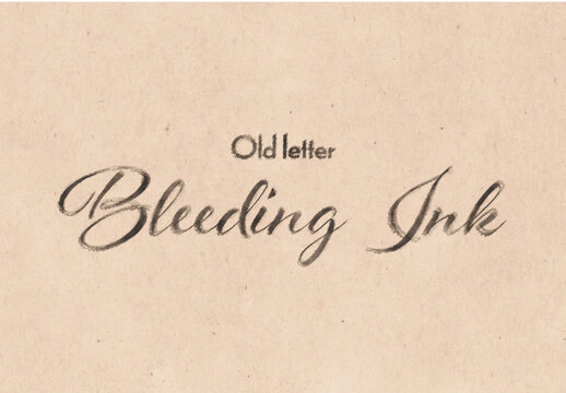 Ink Bleed Old Letter Text Effect Mockup