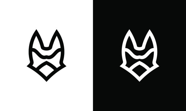 Batman black mask logo. Halloween mask. Vector line style illustration.