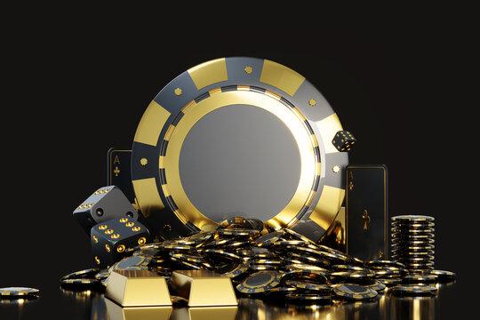 3d Casino Chip Stacks