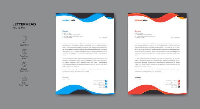 Abstract modern letterhead business design template
