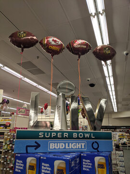 Super Bowl LIV Bud Light Football Display