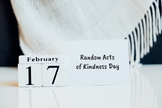 Random Acts of Kindness Day of winter month calendar february