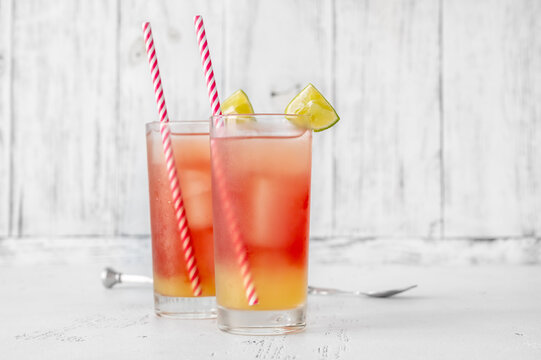 Glasses of Bay Breeze cocktail