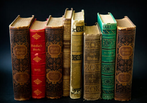Old antique books