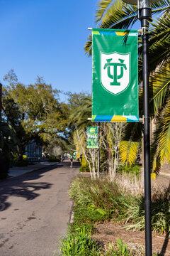 Tulane University logo on banner