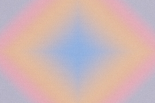 Digital noise gradient. Nostalgia, vintage, retro 70s, 80s style. Abstract lo-fi background. Retro wave, synthwave. Wall, wallpaper, template, print. Minimal, minimalist. Blue, pink, orange gray color