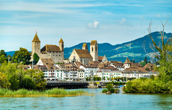 Rapperswil Castle at Lake Zurich in Swizterland