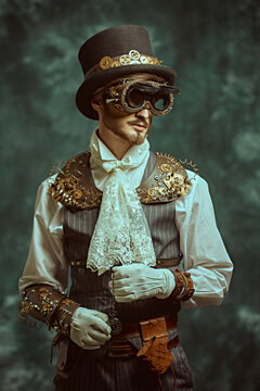 vintage steampunk portrait