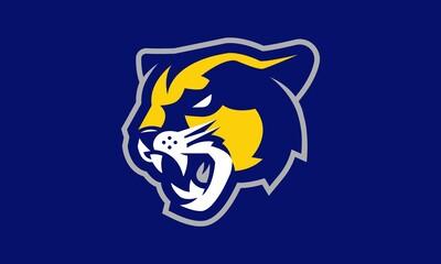 Cougar sports vector mascot logo design - fototapety na wymiar