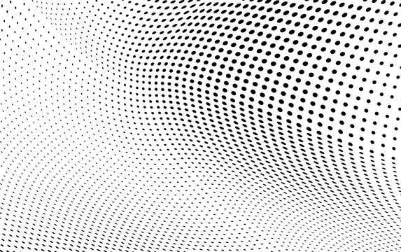 Abstract halftone wave dotted background
