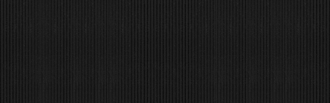 Panorama of New black galvanized fence with pattern texture and background seamless