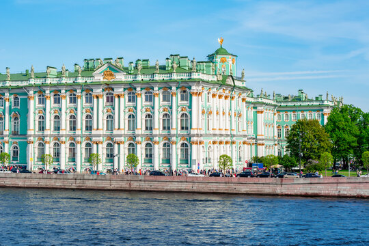 Winter Palace (State Hermitage museum) and Neva river, Saint Petersburg, Russia