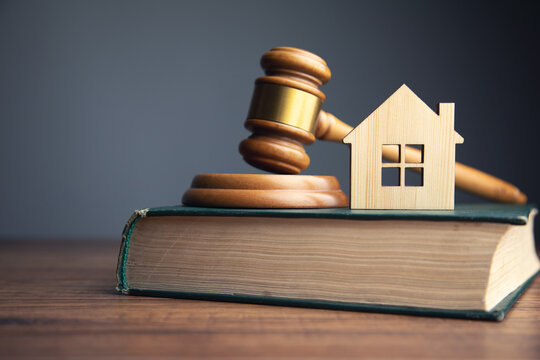 Judge auction and real estate concept