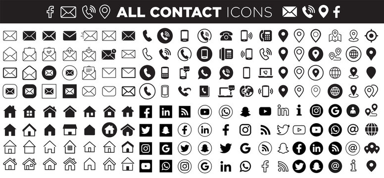 contact & social icons