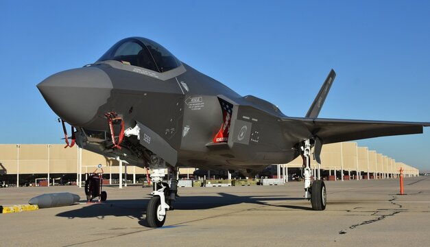 A U.S. Air Force F-35 Joint Strike Fighter (Lightning II) jet.