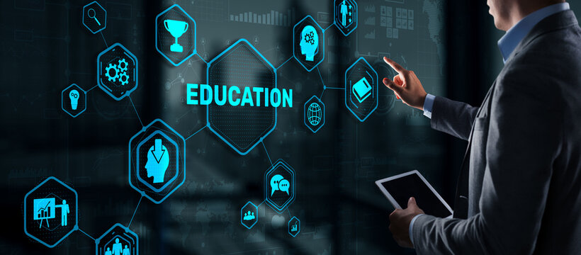 E learning Education Internet Webinar Online courses concept.