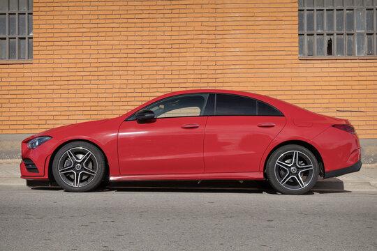 SABADELL, SPAIN-FEBRUARY 1, 2021: Mercedes-Benz CLA-Class (Second generation, C118; 2019–present), CLA 200