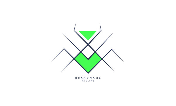 Minimal creative Spider logo. Modern spider vector