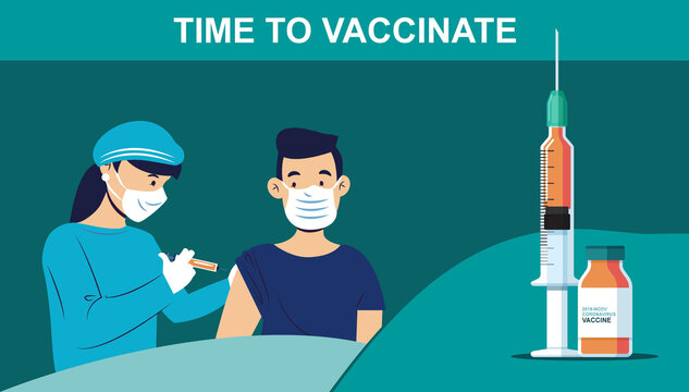 Infographic poster about Covid-19 vaccination - Time to Vaccinate