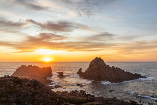 Sugarloaf Rock at moody sunset
