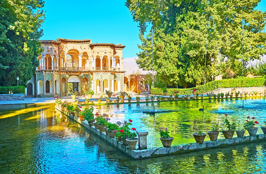 The splendid garden in desert of Kerman province, Iran