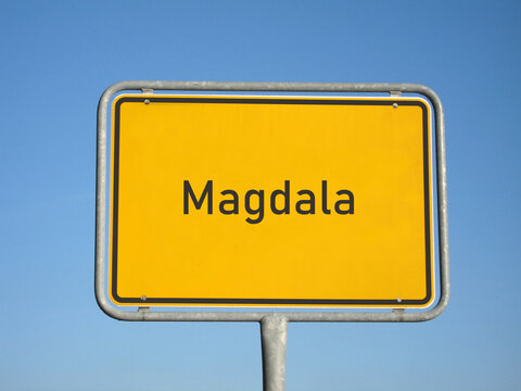 Ortsschild Magdala