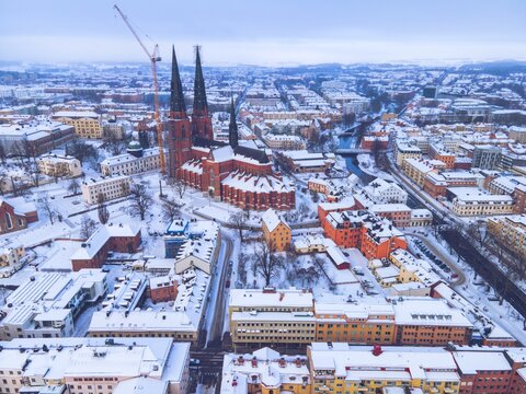 Uppsala, Sweden as seen in the Winter