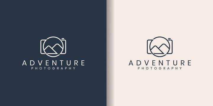 Landscape Photography Logo. Photography Logo design vector inspiration
