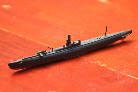 Submarine miniature game for decoration hand crafted