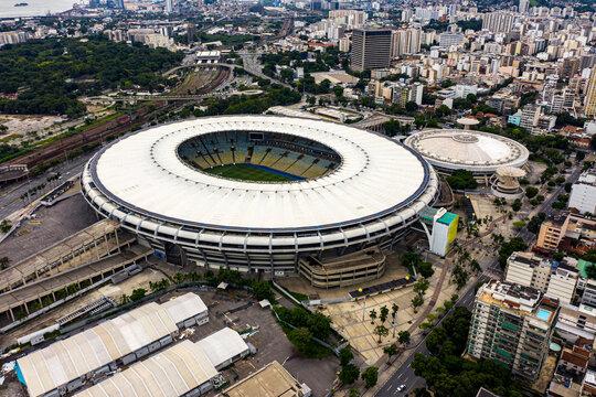 Maracana Stadium. Brazilian football. City of Rio de Janeiro, Brazil South America.