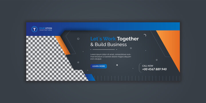 Corporate and digital business marketing promotion facebook cover template Premium