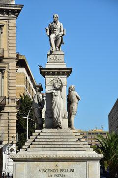 Denkmal von Vincenzo Bellini in Catania | Sizilien