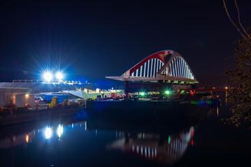 New city bridge at night