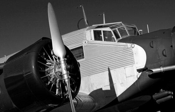 Vintage  Junkers JU 52 aircraft