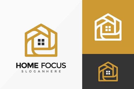 Home Focus Estate Logo Design, modern Logos Designs Vector Illustration Template