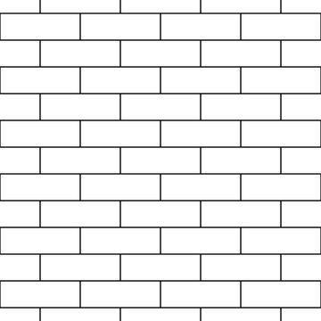 Seamless brickwall pattern. Bricks cladding wall. Walling wallpaper. Geometric ornament. Mosaic motif. Grid background. Geometrical backdrop. Digital paper, textile print, web design. Vector artwork