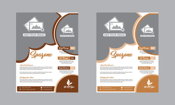 Beauty Salon Flyer Template Design