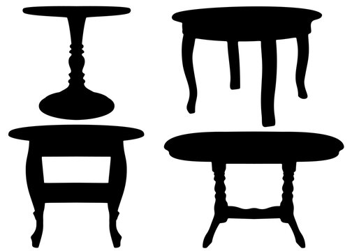 Round table for kitchen or living room set.
