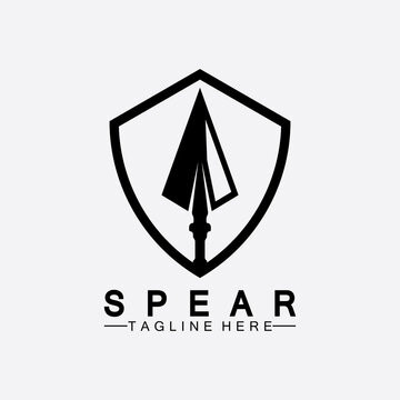 Spear logo icon vector illustration design.Head spear logo vintage illustration design vector