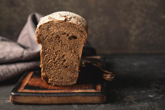 Whole grain healthy bread close-up
