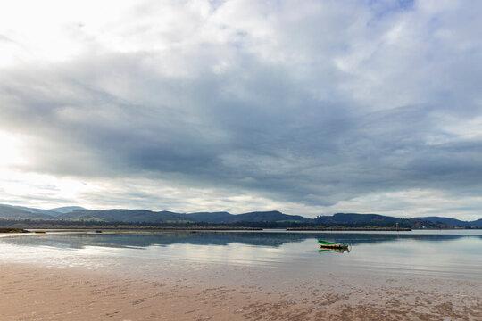 landscape in the beach of laredo in spain