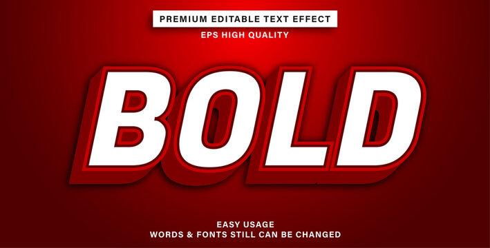editable text effect bold
