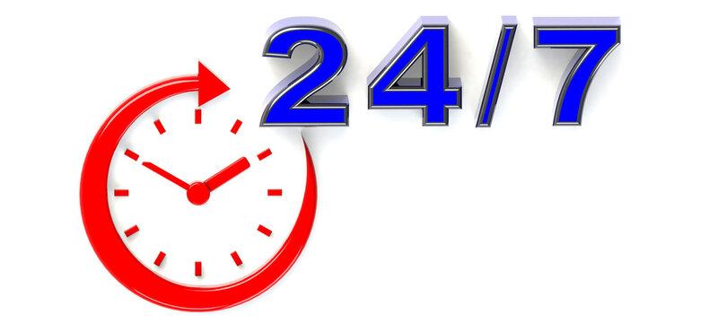 24 mit Uhr
