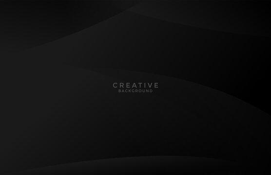 clean dark black backgroud curve wavy minimalist pattern design